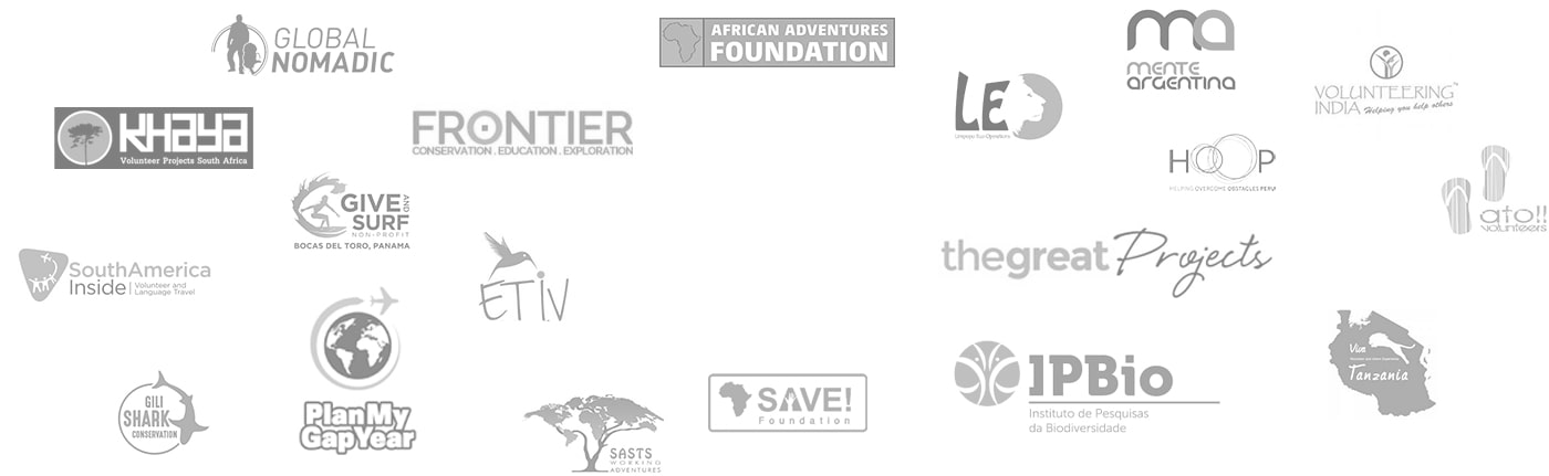 Logos of various volunteer organizations